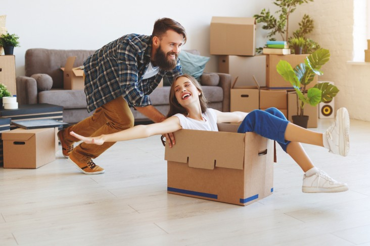 Couple moving in to house
